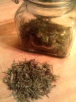 herbs and jar