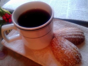 madeleines and coffee resize