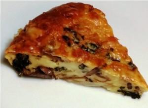 Savory clafoutis slice