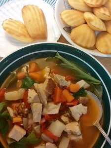 Madeleines and Turkey Soup