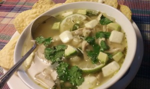 Chicken Lime Soup with Hominy