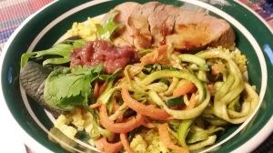 Pork grain bowl
